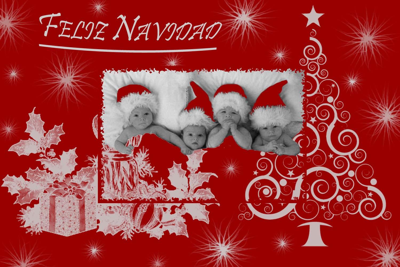 Tarjetas de navidad personalizadas gratis con foto para imprimir